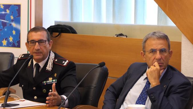 Il ministro Sergio Costa e il Generale Giuseppe Vadalà