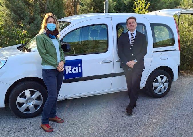 Il Direttore Generale Maurizio Dionisio e la giornalista RAI Roberta Mancinelli