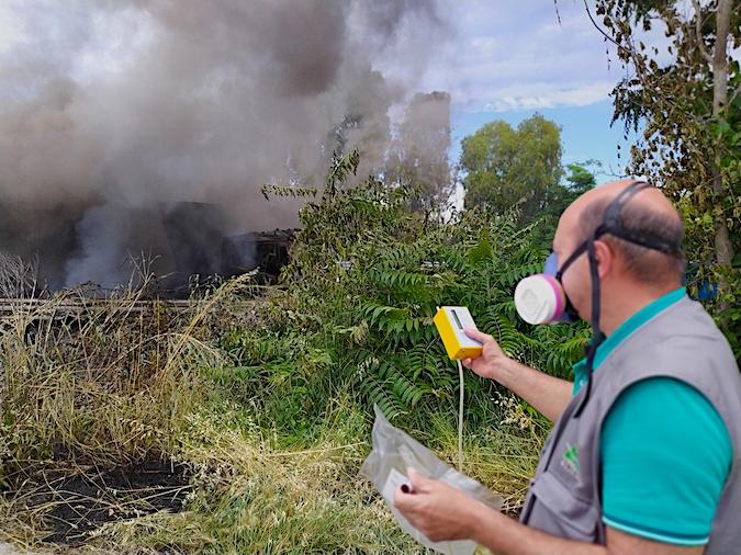 Incendio A14 Martinsicuro