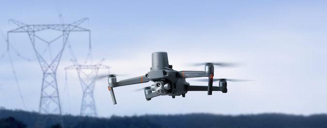Fotografia del DJI  Mavic Enterprise, il modello di drone acquistato dall'arta per il progetto le Aquile